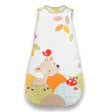 Baby Sleep Sack Cotton Sleeveless Sleep Bag Character Embroidery Wearable Blanket 2.5 Tog For 0-6m