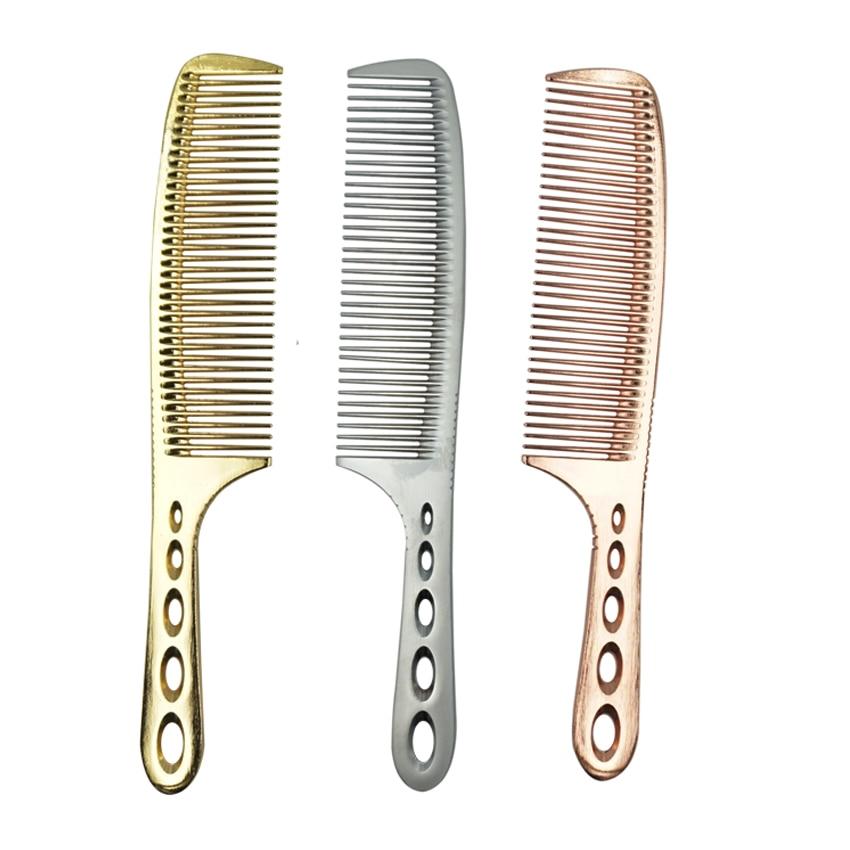 Professionell frisör Titanium Comb 3 Colors Hair Barber Man Haircut - Hårvård och styling - Foto 1