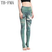 Women Yoga Pants High Waist Stretchy Dry Fit Sports Leggings Compression Sport Tights Yoga Sportswear Sport Leggings Running
