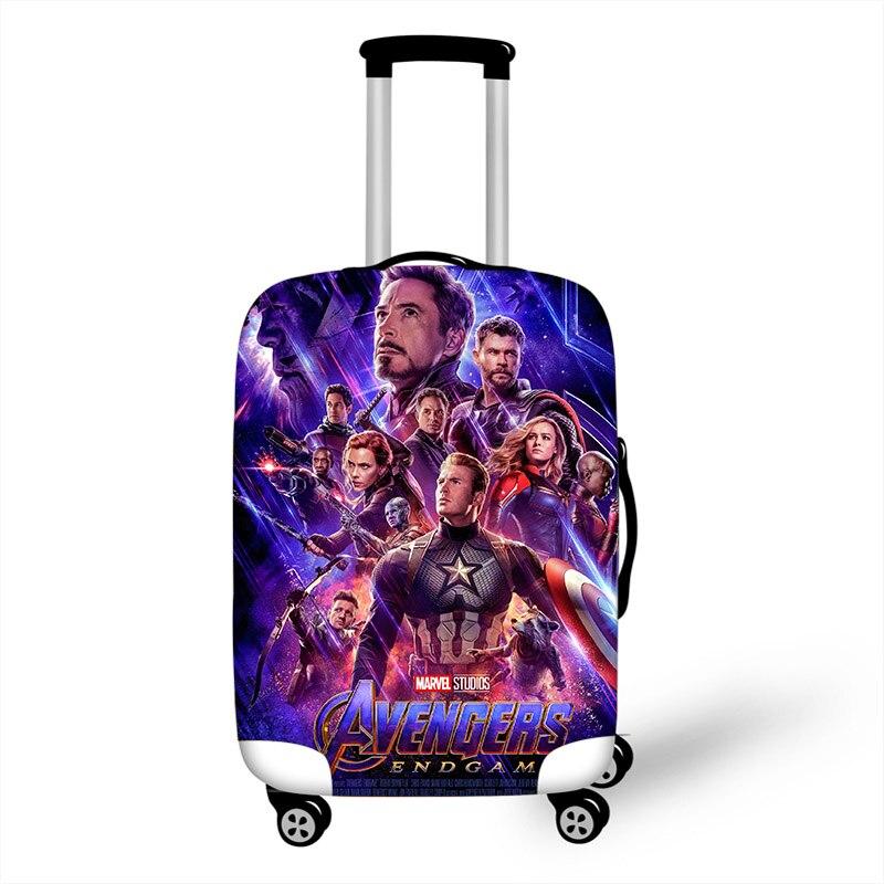 849c0148b3a9 18 ''-28'' Мстители Капитан Америка Железный человек эластичный чемодан  защитный чехол Защита пыли сумка чехол мультфильм Дорожный Чехол