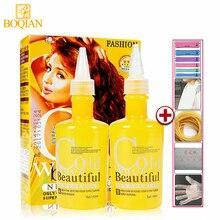 BOQIAN 2 шт./компл. химической завивки локон волос кудрявый крем цифровой постоянного пульсации вьющиеся холодная волна волос лосьон для укладки волос 140mlx2