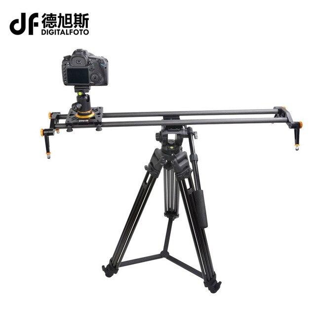 BERÜHMTE Professionelle reise tragbare beste kohlefaser 80 cm kamera slider design video dolly track jib 80 cm slr schiene diy dslr