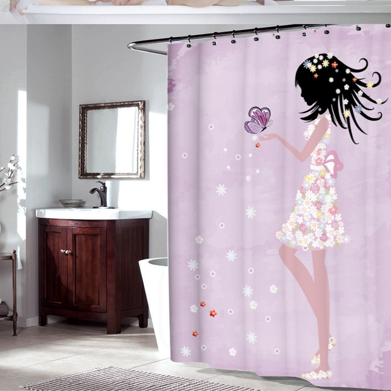 Fabric Polyester Pink Butterfly Girl With Floral Dress Flower Fairy ...