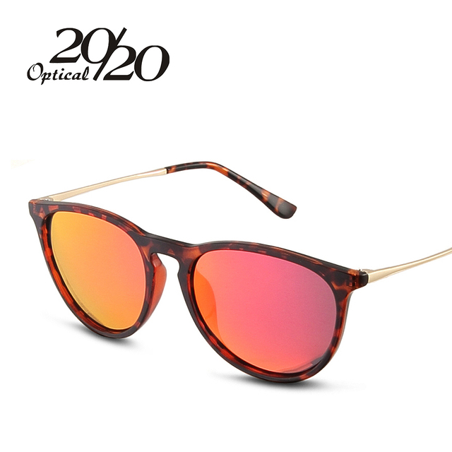 20/20 Brand designer Classic Round Sunglasses Women Oculos TR90 Material Fashion Female Eyewear Men shades Glasses TR107