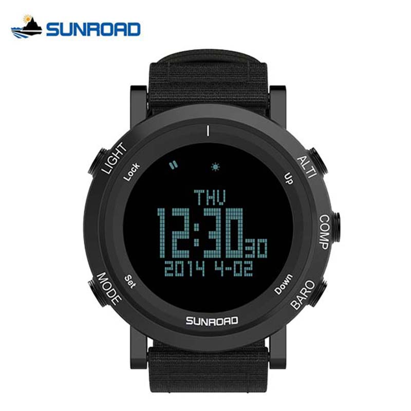 SUNROAD Climbing Watch Men Pedometer Barometer Altimeter Compass Waterproof Outdoor Sports Camping Smart Watches For Mountaineer