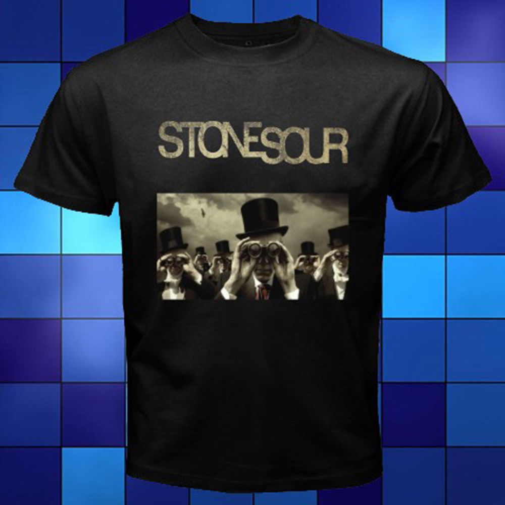 Stone Sour Rock Band *Come What(ever) May Album Black T-Shirt Size S to 3XL T Shirt Men Funny Tee Shirts Short Sleeve image