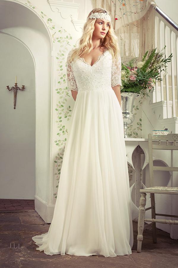Plus Size Wedding Dresses Adelaide Simple Online White