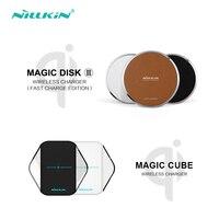 NILLKIN Magic Disk III Magic Cube Qi Wireless Charger For Samsung S6 S6 Edge S7 S7