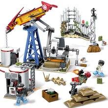 SEMBO Military Series Oil drilling base Building Blocks Kit Bricks Educational Toys for Children gift