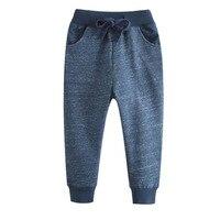 Winter Baby Boy Pants Solid Color Cotton Drawstring Knit Trousers Children Kids School Elastic Pants Winter