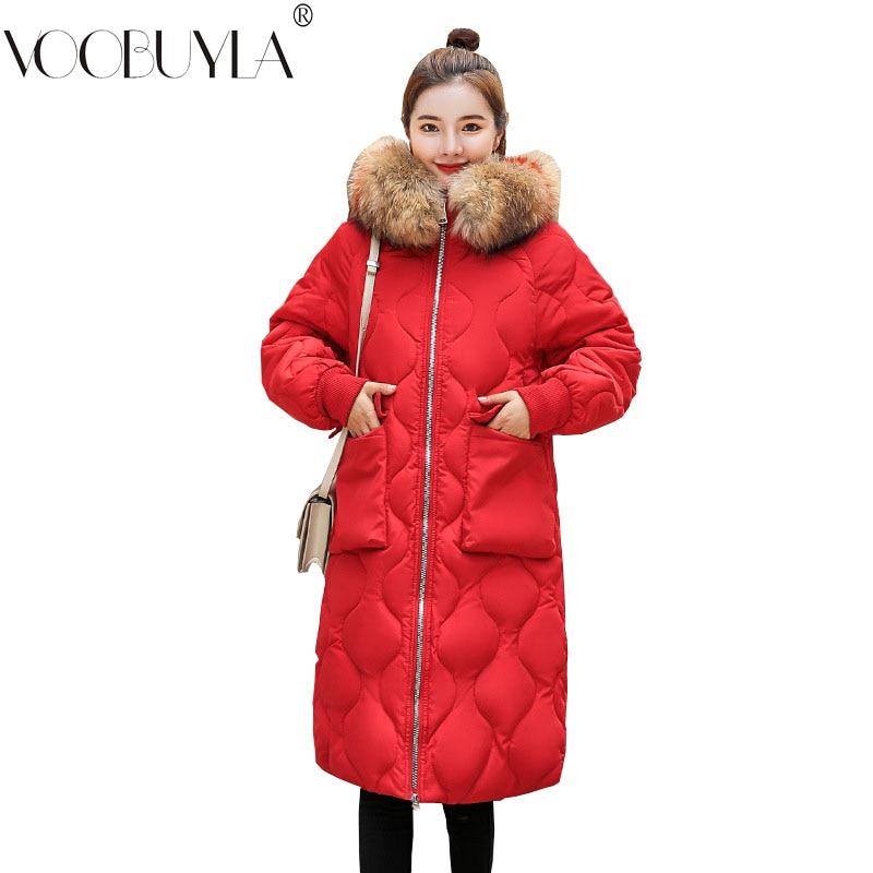 575dedb37b7f Collare Warm Ful Voobuyla In Cappotto Cotone Addensare Giacca Color  Cappuccio Donne Delle Inverno Tuta Tasche ...