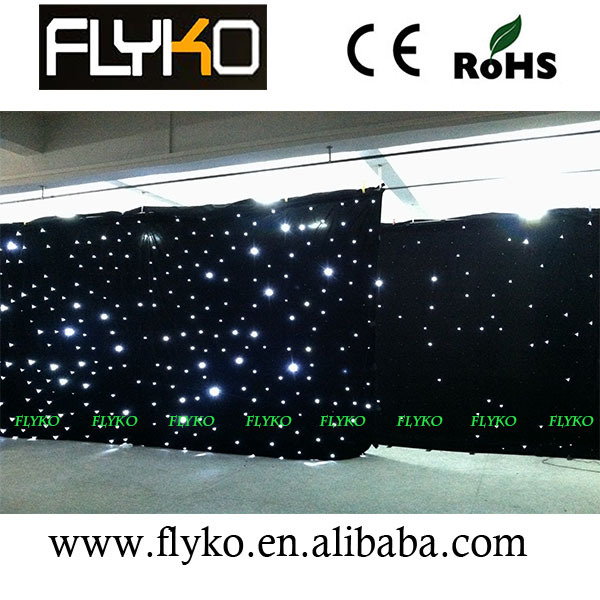 LED Star Curtain white led 4mx6m Lite version led star cloth stage backdrop stage background