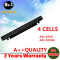 Wholesales New 4cells Laptop battery For ASUS  A450 A550 F450 F552 P450 X450 X550  A41-X550 A41-X550A
