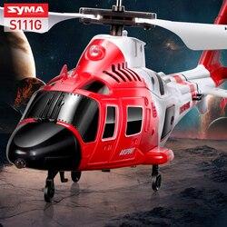 SYMA S111G атаки десантники вертолет с светодио дный свет 3.5CH Вертолет дистанционного Управление Радиоуправляемый Дрон небьющиеся игрушки для ...