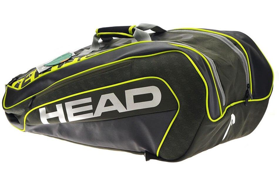 Head Brand Tennis Bag Novak Djokovic Signature Tennis Racket Bag Large Capacity 6 9 Tennis Racquets
