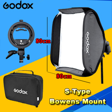 Godox Plegable Plegable de Flash Softbox 80 cm * 80 cm + tipo S Soporte Estable Bowens Flash Speedlite Studio Shooting Kit Softbox