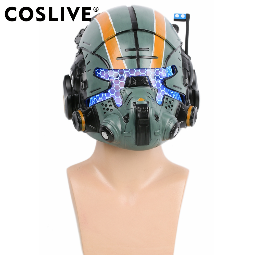 Coslive Halloween Cosplay Titanfall 2 Jack Cooper Casque Halloween Afficher Rôles Cosplay Lueur Yeux Masque Costume Accessoires Pour Adulte