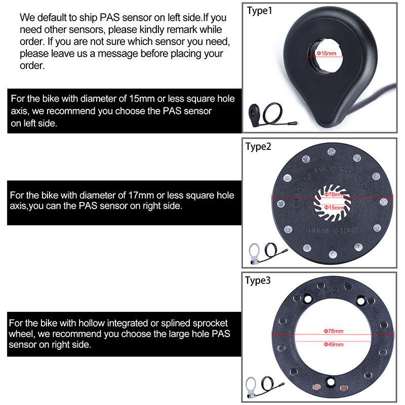 NCB PAS Disc 2 pieces with Sensor for E-Bike Conversion Pedelec Conversion
