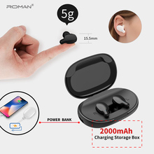 Roman Bluetooth 5.0 Earphones TWS Wireless Headphones Blutooth Earphone Handsfree Headphone Sports Earbuds With packing