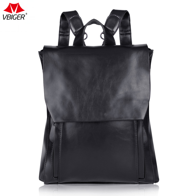 96a9ab59ad Vbiger Vintage Women s PU Leather Backpack School Bag Fashion High capacity  Bags High Quality Casual Backpacks