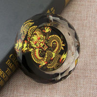1 Piece 2015 New Arrival Fashion Creative Gift Chinese Totem Dragon 10cm Regular Octagon K9 Artificial