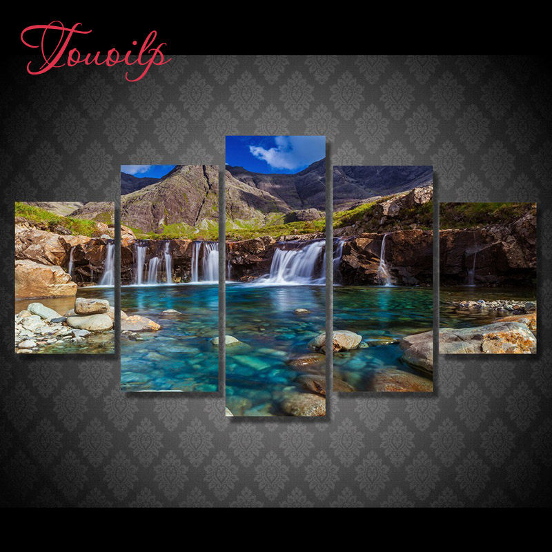 5D Diy Mountain Waterfall spuare&round diamond painting crystal 5d diy diamond embroidery diy crystal painting cross stitchsets