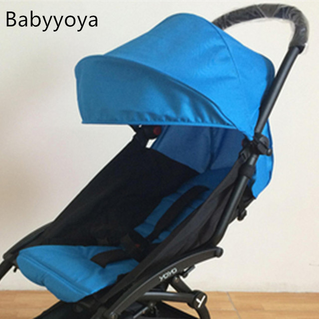 Pure color textile accessories Sun canopy cover +seat pad suitable for baby yoya strollers shield & Pure color textile accessories Sun canopy cover +seat pad suitable ...