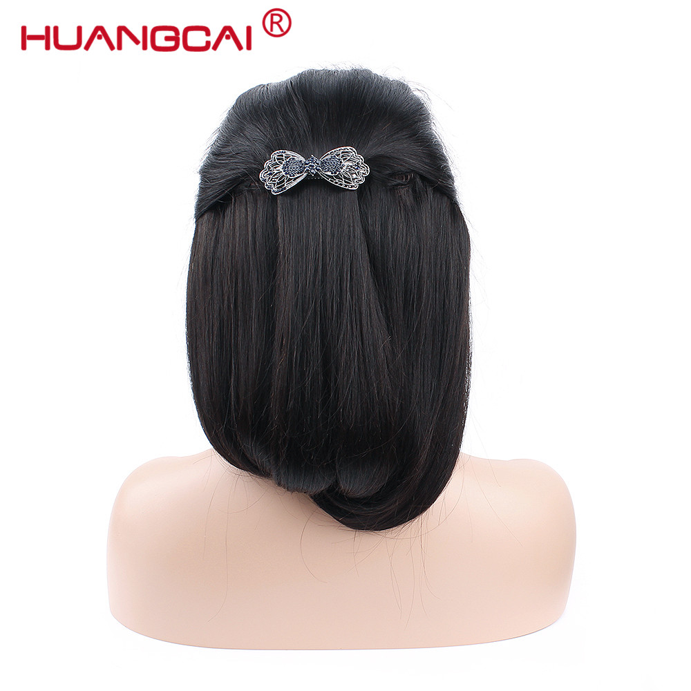 13*4 Lace Front Human Hair Wigs 100% Peruvian Straight Remy Hair Wigs Pre Plucked With Baby Hair Natural Hair Line Huangcai