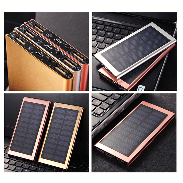 Solar 20000mah Ultra-thin Power Bank 5