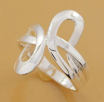 R206 Wholesale Silver plated ring, silver fashion jewelry, fashion ring