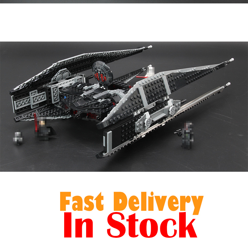 Lepin 05127 705Pcs Star Kylo Wars Tie Model Fighter Set Model Building Blocks Bricks With LegoNGLY 75179 Educational Toy For kid