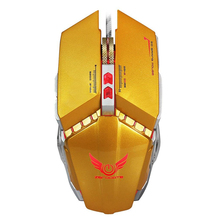 ZERODATE For Tablet Laptop PC X700 3200DPI Optical Wired Gaming Mechanical Mouse Orange