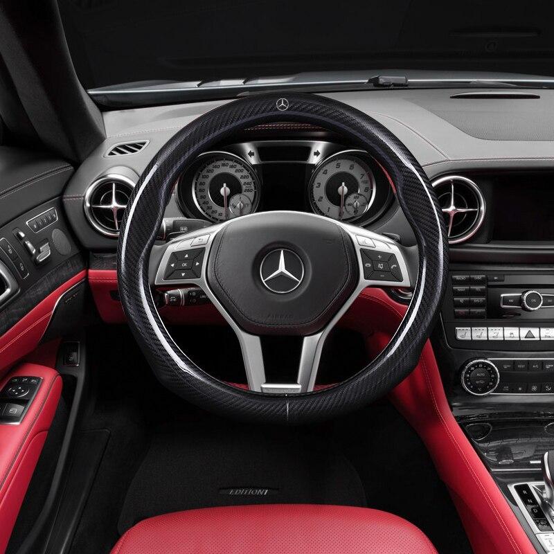 Diameter 38cm Carbon Fiber Steering Wheels Sport Cover