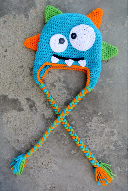 Crochet Knitted Hat Monster Hat Cartoon Character Infant Toddler