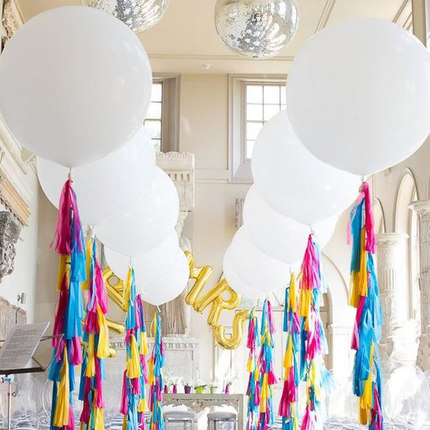 100pc 18inch Round White Blue transparent Color Big Giant Balloon for Party Wedding Valentine s Day