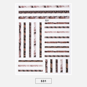 Image 5 - 1pc Snakeskin 3D Nail Art Stickers Marble Stone Grid Leopard Nail Sticker Decals Japanese Nail Accessories for Nail Decorations