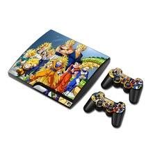 Dragon Ball skóra winylowa ochraniacz w formie naklejki na Sony PS3 Slim PlayStation 3 Slim i 2 kontrolery skórki naklejki