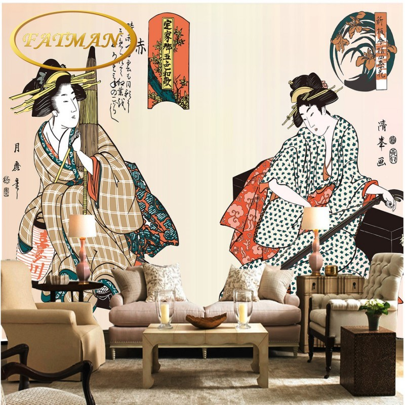 Hd Japan Movie8 Bath Com: Custom Photo Wallpaper HD Japanese Maid TV Background Wall