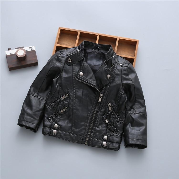 04439c968 UNINICE Children s PU Leather Jackets Boys Autumn Leather Coat Girls ...