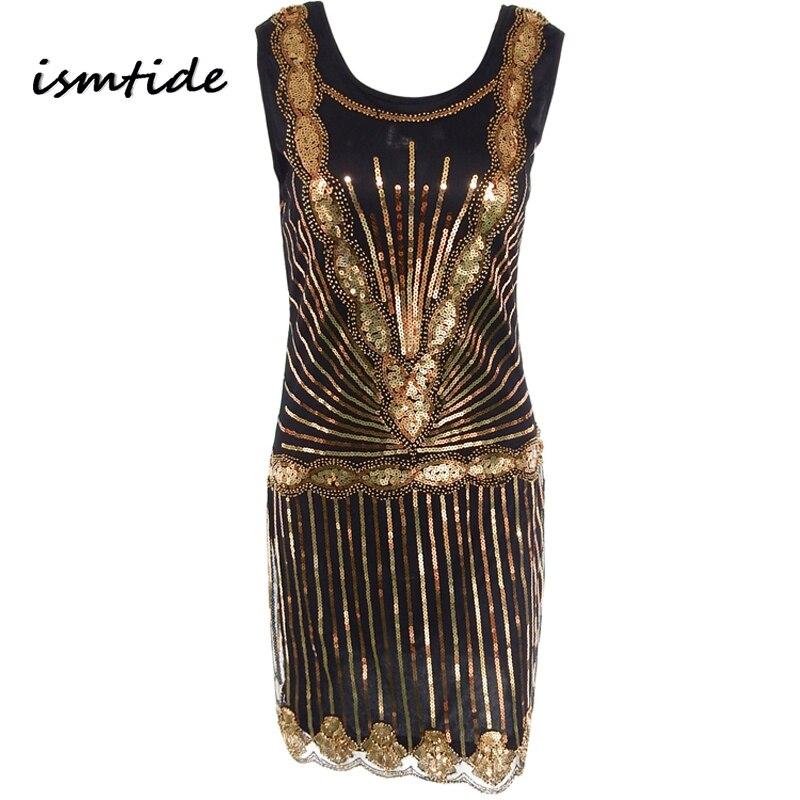 7447af0e1430 Donne Vestito di Lustrini 1920 s Vintage Paillettes Ispirato In Rilievo Gatsby  Flapper Vestito Da Promenade Diamante Abbellito Sexy Vestiti Da Partito in  ...