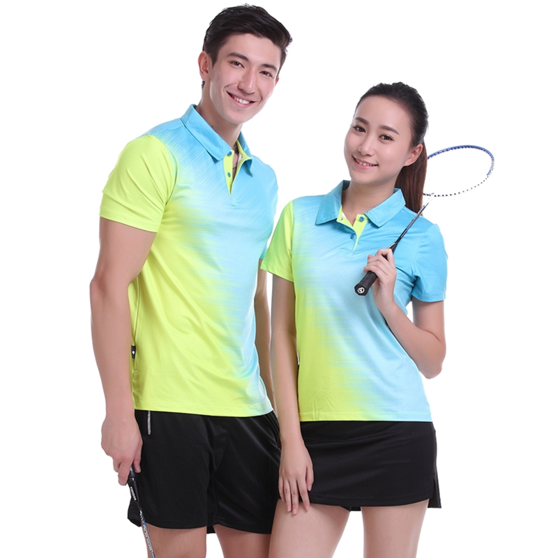 badminton wear short sleeved shirts men / women clothes ball movement - breathable activewear free shipping