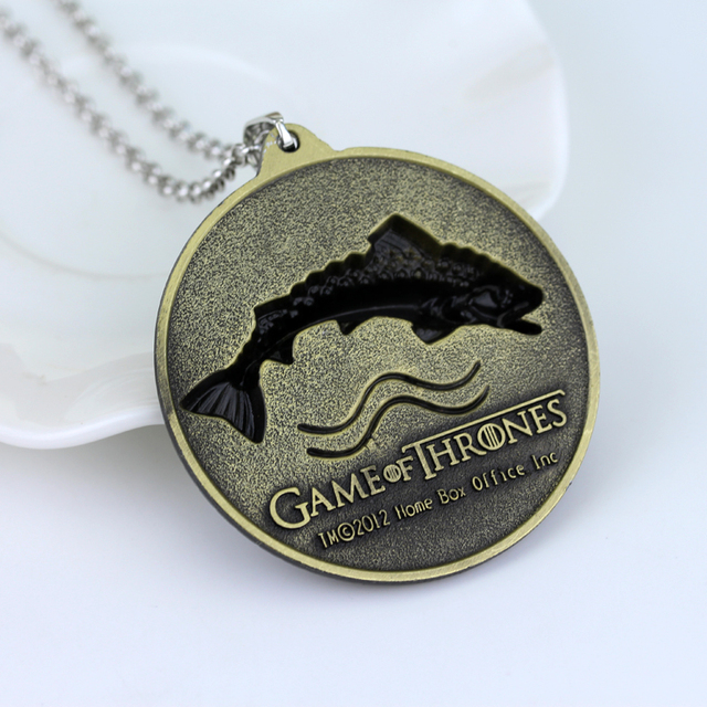 Game OF Thrones Pendant & Necklace – House Stark Winter Is Coming