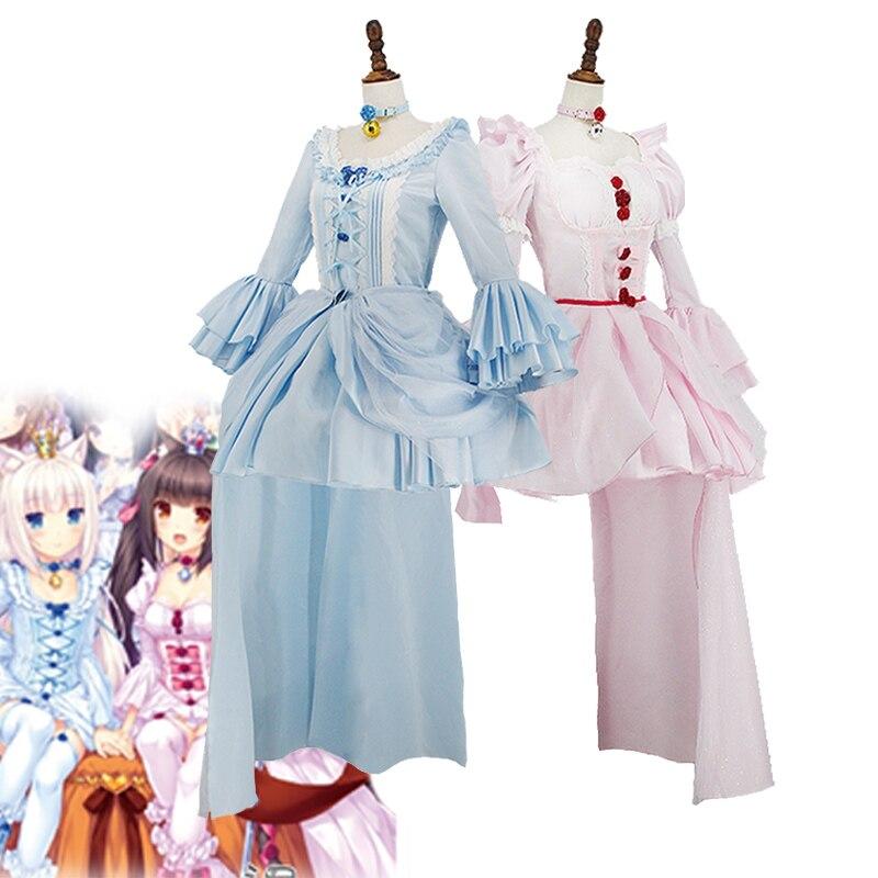 Game NEKOPARA Chocolat Vanilla Cosplay Costume Girls Cute Lolita Dress Halloween Carnival Uniforms With Ears Tail