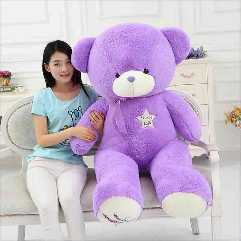 Lavender bear Teddy bear purple lavender Hug the bear plush toy Valentine's day gifts fancytrader biggest in the world pluch bear toys real jumbo 134 340cm huge giant plush stuffed bear 2 sizes ft90451
