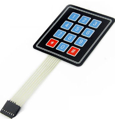 New 3 X 4 12 Key Matrix Membrane Switch Keypad Keyboard