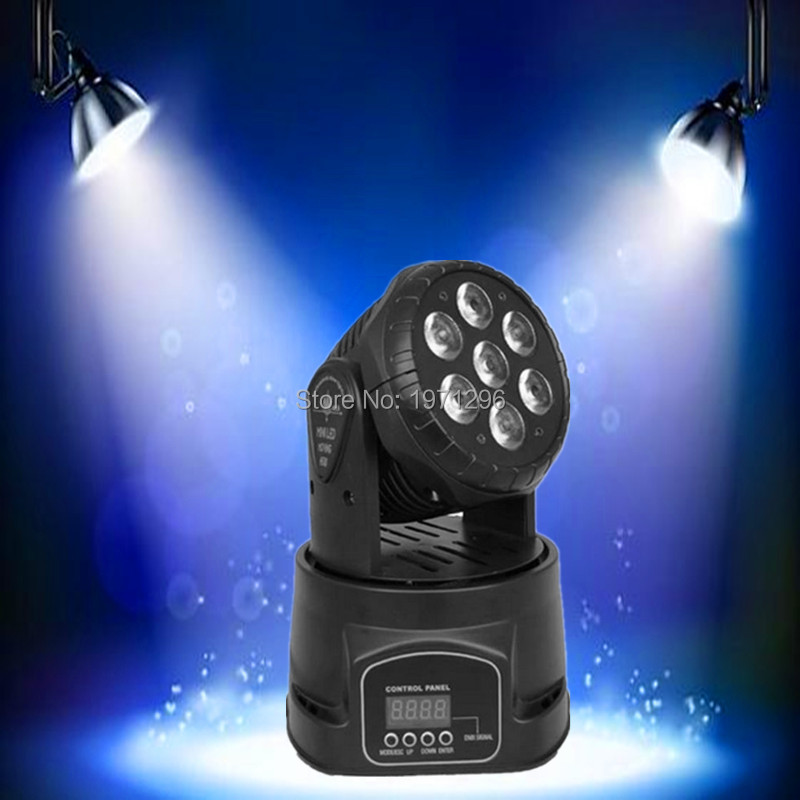 ФОТО 4pieces/lot LED moving head mini wash 7x12w rgbw quad with advanced 14 channels  DJ Disco Party Stage Effect Lighting
