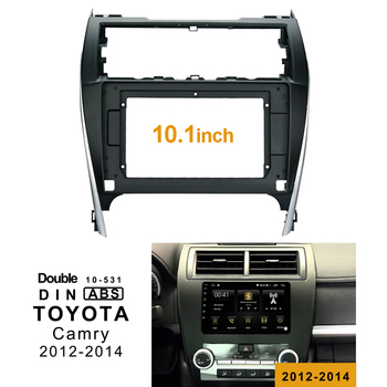 2Din Mobil Dvd Bingkai Audio Pas Usb Dash Trim Kit Facia Panel 10.1 Inch untuk Toyota Camry 2012-2014 double Din Radio Pemain
