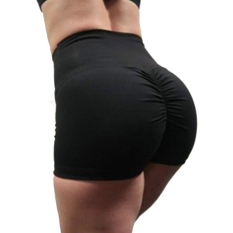 2018 Nouveau Élastique Butin Noir Shorts Sexy Mince Feminino Pantalones Mujer Fitness Femmes Sportives Fonctionne Femmes De Pantalon Court