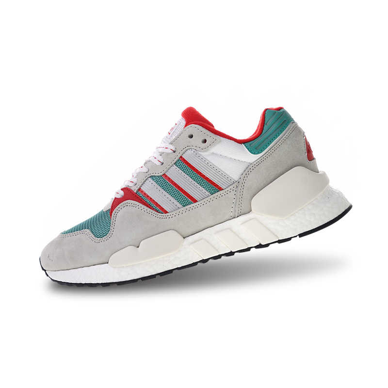 more photos 64e41 f0d93 Adidas Originals EQT ZX Boost Sports Shoes Gray Green Red Running Shoes For  Men And Women G26806 36-45 EUR Size U