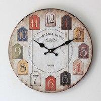 Саудовская Аравия Стиль красочные цифровой электроники Mute деревянные настенные часы ZAKKA моды подарки ремесла Домашний Декор